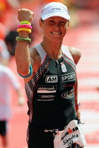 Picture of Triathlon finsih for Triathlete Sandra Wallenhorst